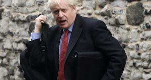 Leadership candidate for Britain's Conservative Party Boris Johnson: to head towards a no-deal, he will tout non-existent alternatives, say they mean the backstop guarantee is not needed and try to blame the EU – and Ireland – for a lurch towards a no-deal. Photograph: Simon Dawson