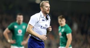 Wayne Barnes will referee Ireland's opening Rugby World Cup fixture against Scotland. Photograph: Dan Sheridan/Inpho