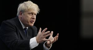 Boris Johnson has hardened his rhetoric against the backstop. Photograph: Simon Dawson/Bloomberg