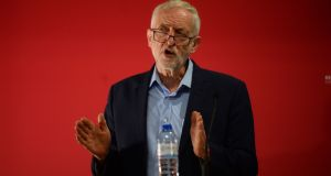 Labour leader Jeremy Corbyn:  he has failed to capitalise on the internal Tory knife-fight going on beside him.  Photograph:  O'Connor/PA Wire