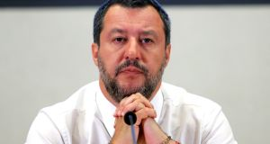 Italian deputy prime  minister Matteo Salvini addresses a news conference in Rome earlier this week. File photograph: Remo Casilli/Reuters