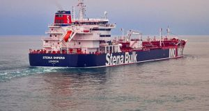 British foreign secretary Jeremy Hunt will unveil the diplomatic and economic measures on Monday in response to the apprehension and detention of the Stena Imperto. Photograph: Stena Bulk/PA Wire