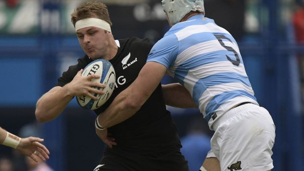 Sam Cane captained the All Blacks in their victory over Argentina. Photograph: Juan Mabromata/AFP/Getty
