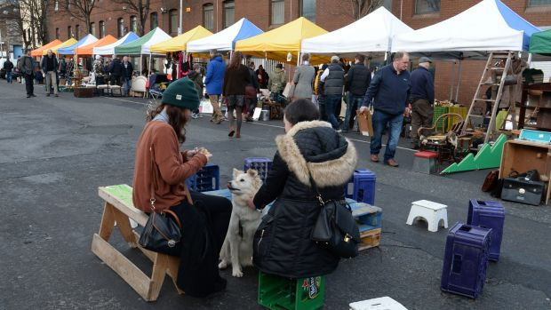 Dublin Flea Market at Newmarket Square back in 2015. People who actually want to create something for their fellow city folk are ground down by a rigged city. Photograph:Cyril Byrne