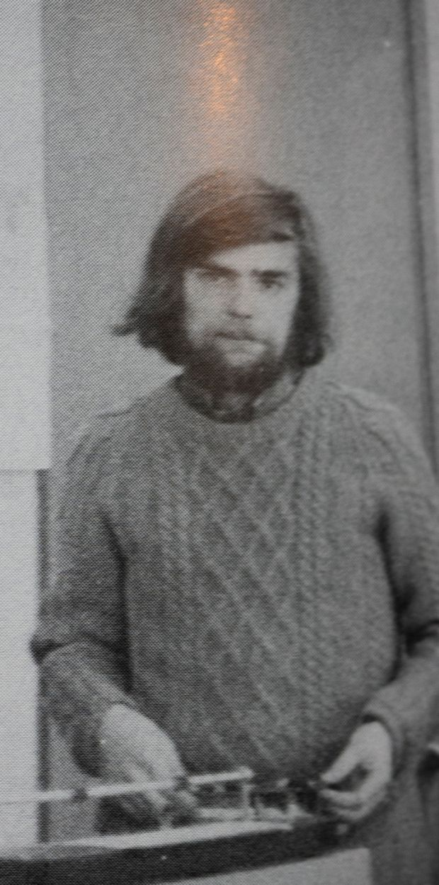 Malachi O'Doherty as a young journalist
