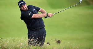 Shane Lowry hits from the rough on the final day of the  Open Golf Championship at Royal Portrush. Photograph: Facundo Arrizabalaga/EPA