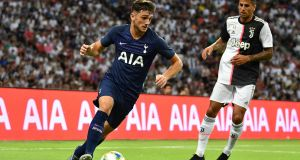 Troy Parrott started for Tottenham against Juventus in Singapore. Photograph: Thananuwat Srirasant/Getty