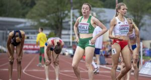 Ireland's Sarah Healy during this week's European Under-20 Championships in Borås, Sweden. Photograph: Inpho