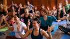 Participants at the first Celtic Woodland Yoga Festival at Townley Hall, Co Louth