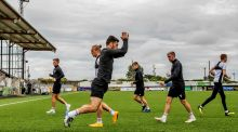 Dundalk players during a training session at Oriel Park. Photograph: Inpho