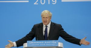 Boris Johnson is expected to replace Theresa May as leader of the Conservative Party this week. Photograph: Simon Dawson/Bloomberg