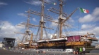 Italian Training Vessel Amerigo Vespucci arrives in Dublin
