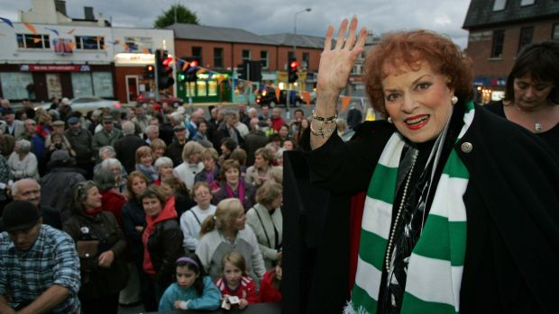 24/09/2010 Maureen O'Hara in Ranelagh, Dublin in 2010 when she formally opened the Ranelagh Arts Festival. Photograph: Frank Miller/The Irish Times