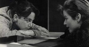 Anne Enright and Lucy Vigne-Welsh in Top Girls by Caryl Churchill in 1985. Photograph: Alan Byrne