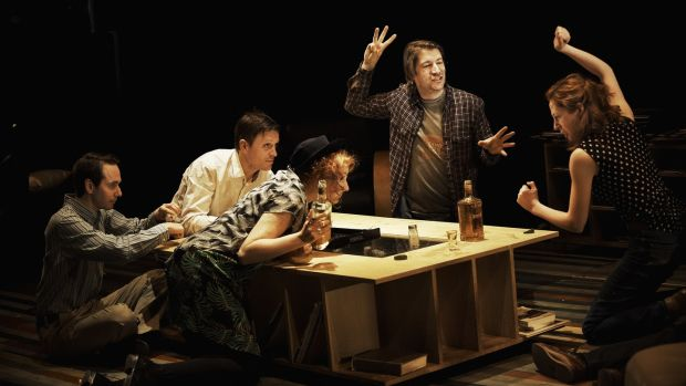 Paul Mallon, Raymond Scannell, Mags McAuliffe, John Cronin, Jody O'Neill in Digging for Fire in 2013.Photograph: Ros Kavanagh