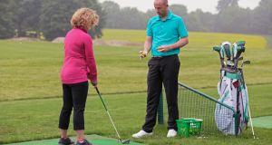 There has been a fall off in golfers taking individual lessons, with more taking part in group lessons.