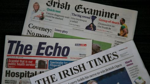 The accounts for The Irish Times DAC include trading from the Irish Examiner and other media assets acquired from Landmark Media Investments, from July 10th, 2018. Photograph Nick Bradshaw