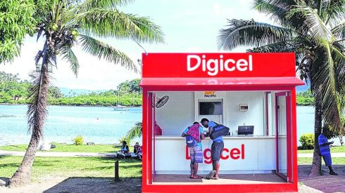 A Digicel store  in Savusavu, Fiji. The Denis O'Brien-owned group told bondholders last month that its quarterly earnings fell 9 per cent to $210 million in the first quarter.