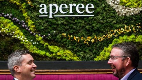 David O'Shea, executive director of BlackBee Group with Aperee chief executive Paul Kingston at the launch of the fund. Photograph: Clare Keogh