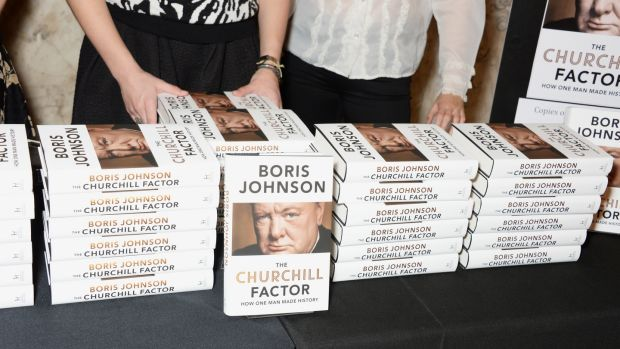 The launch of Boris Johnson's book The Churchill Factor: How One Man Made History in London in 2014. Photograph: David M Benett/Getty Images