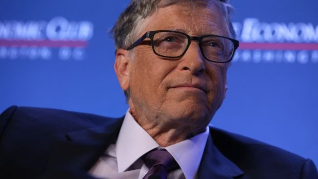 Founder of Microsoft Corporation and philanthropist Bill Gates.