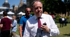 Deputy leader of the DUP Nigel Dodds has said that winning the Conservative party leadership contest is a 'totally emphatic victory' for Boris Johnson. Photograph: Will Oliver/EPA