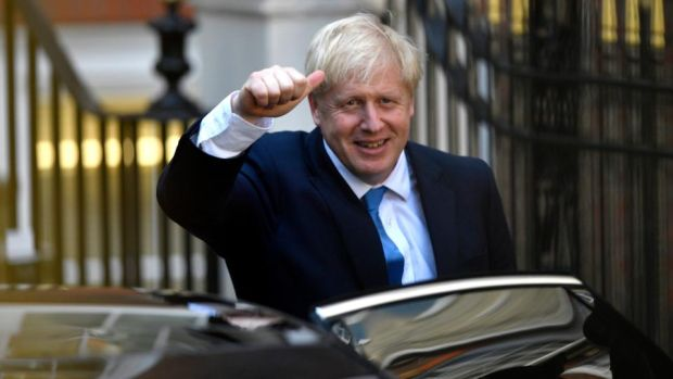 Boris Johnson leaves the Conservative party headquarters after being announced as the new Conservative party leader at an event in central London on July 23rd. Photograph: Neil Hall/EPA
