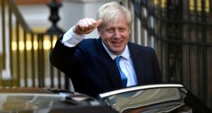 Boris Johnson leaves the Conservative Party headquarters after being announced as the new Conservative party leader at an event in central London 23 July 2019. Boris Johnson defeated Jeremy Hunt to become the new British Conservative party leader winning 92,153 votes to Jeremy Hunt's 46,656. EPA/NEIL HALL