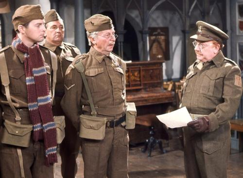 'You can't wait to laugh at it again' ... Captain Mainwaring (right) and 'stupid boy' Pike (left) in Dad's Army.