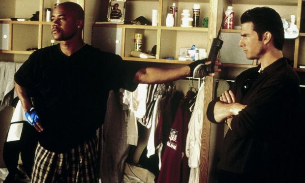 'Show me the money!' ... Cuba Gooding Jr and Tom Cruise in Jerry Maguire. Photograph: Allstar/Tristar Pictures