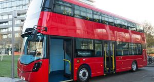 Earlier this year Wrightbus secured a multimillion pound contract, from Transport for London to build 20 pioneering hydrogen double-decker buses which will produce no exhaust pollution. Photograph: Getty