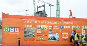 The site of the new national children's hospital, in Dublin. Photograph: Dara Mac Dónaill