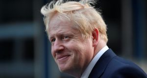Boris Johnson is due to become the British prime minister on Wednesday afternoon after Theresa May submits her resignation to Queen Elizabeth. Photograph: Reuters/Toby Melville