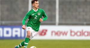 Ireland's Lee O'Connor is among the players missing for the under-19s European Championship semi-final against Portugal. Photo: Laszlo Geczo/Inpho