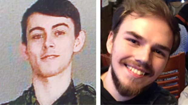 Kam McLeod (19) and Bryer Schmegelsky (18) from Port Alberni, named as suspects in the murder of an Australian tourist and his American girlfriend in northern British Columbia, as well as an unidentified man whose body was found near the boys' abandoned flaming car. Photograph: Royal Canadian Mounted Police (RCMP).