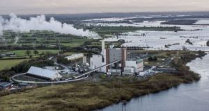 The ESB electricity plant at Shannonbridge, Co Offaly. Photograph: Brenda Fitzsimons/The Irish Times