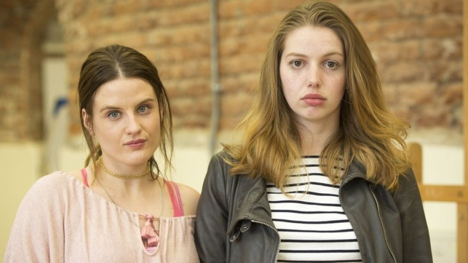 Danika McGuigan, left, with her Can't Cope, Won't Cope co-star Seana Kerslake. Photograph: RTÉ