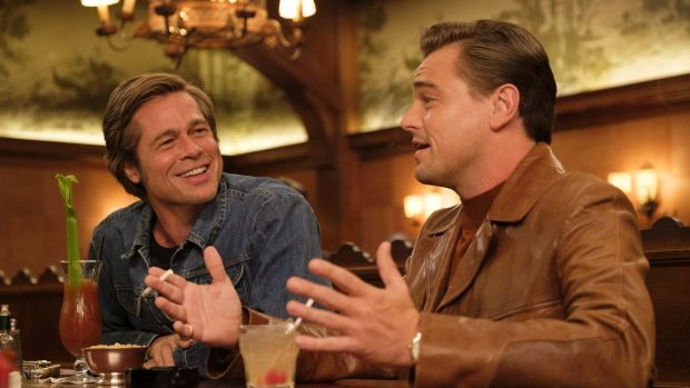 Brad Pitt an d Leonardo DiCaprio in Once Upon a Time in Hollywood