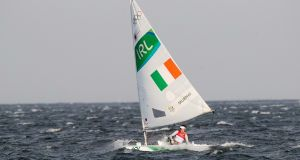 Annalise Murphy in action in the laser radial at the 2016 Olympics - Ireland have qualified a boat for 2020. Photograph: Morgan Treacy/Inpho