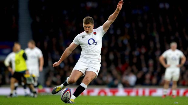 Owen Farrell has the England captaincy after formerly sharing it with Dylan Hartley. Photograph: Ryan Byrne/Inpho