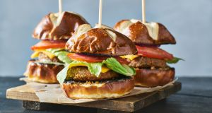 Tasty alternatives to beef. But are they burgers?  The state of Arkansas says no. Photograph: iStock