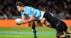 Argentina captain Pablo Matera in action against the All Blacks. Photograph: John Davidson/Inpho