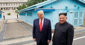 The launch occurred less than a month after Trump met North Korean leader Kim Jong Un at the Demilitarized Zone.