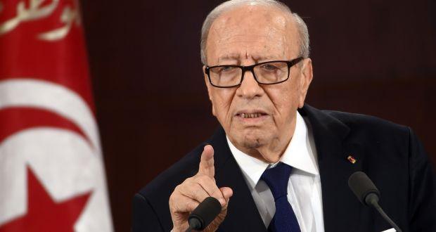 Tunisian president Beji Caid E...