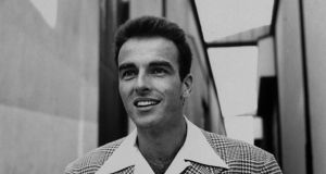 Actor Montgomery Clift standing outside sound stages at Paramount Studios while  filming A Place in the Sun. Photograph:  Peter Stackpole/The LIFE Picture Collection via Getty Images/Getty