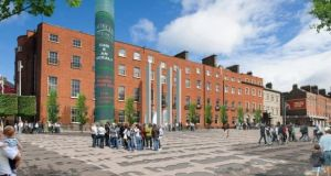 Computer-generated image of the proposed Parnell Square cultural quarter.