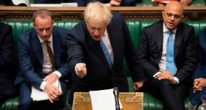 British prime minister Boris Johnson speaking in the House of Commons on Thursday. Photograph: Jessica Taylor/UK Parliament/AFP/Getty Images
