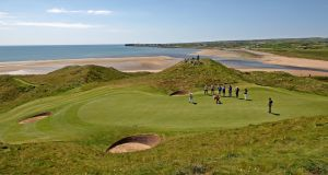 Lahinch Golf Club: Thirty-four players broke par on the opening day, but just 13 dipped into the red yesterday at the  South of Ireland Amateur Open Championship. Photograph:   Donall Farmer/PA