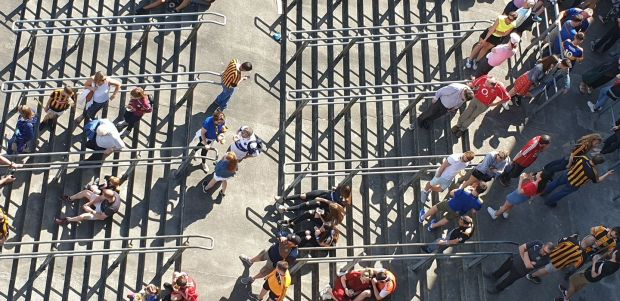 Summer Pix 2019: Climbing the steps in Croke Park during the hurling quarter-finals. Photograph: David Power