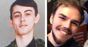 Kam McLeod (19) and Bryer Schmegelsky (18), who are suspected in relation to three murders. Photograph: British Columbia RCMP/Handout via Reuters